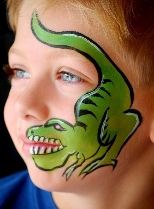 Dinosaur Costume Face Paint Face Paint Uploaded To