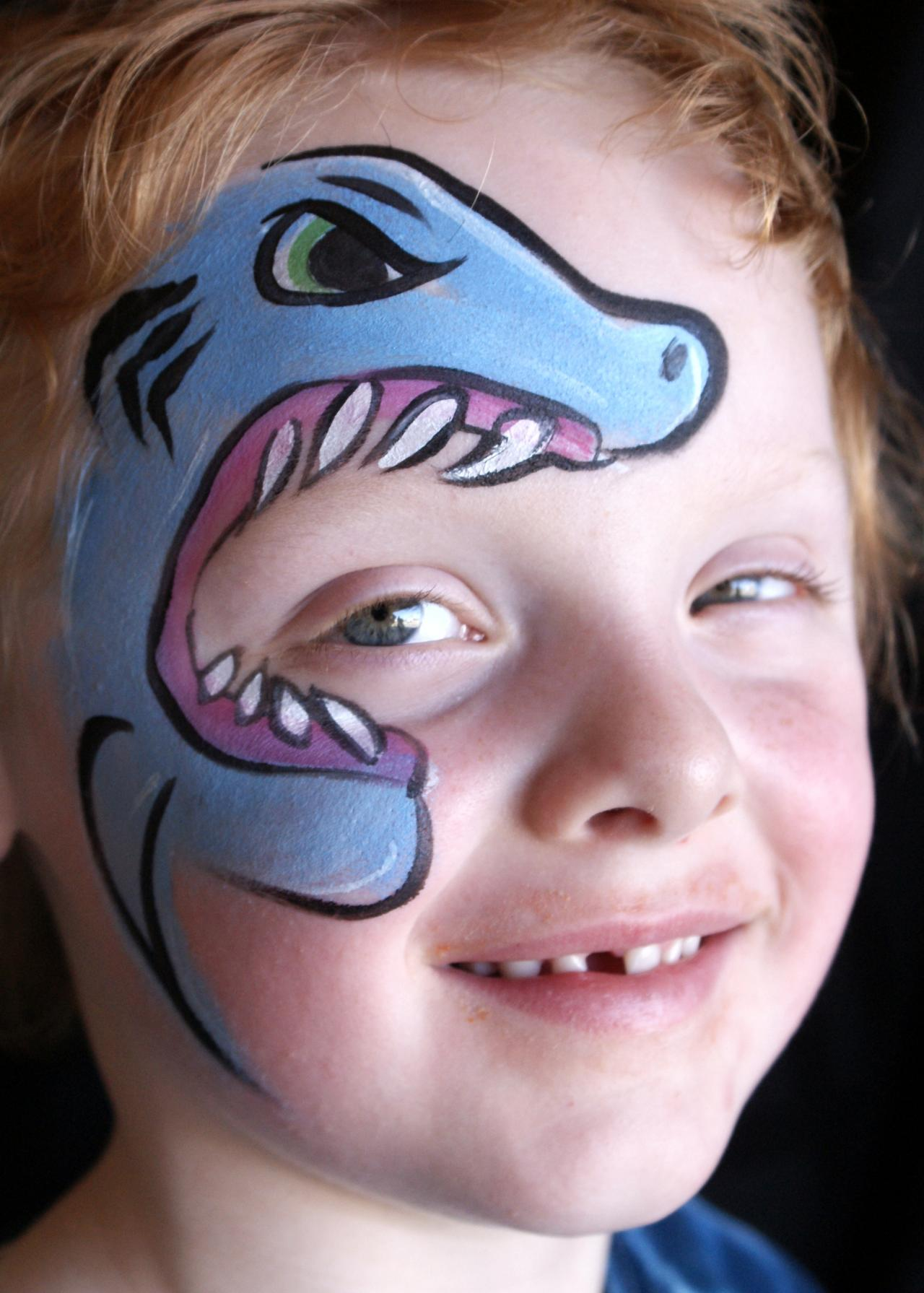 Shark Face Painting Ideas